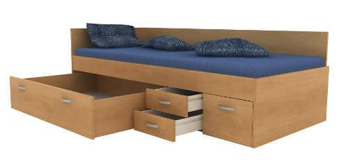 Multifunkční postel s šuplíky