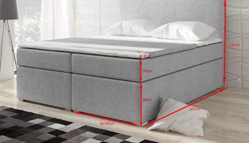 Vysoká pohodlná čalouněná postel