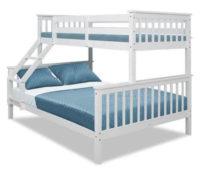 Bílá patrová rozložitelná postel BAGIRA