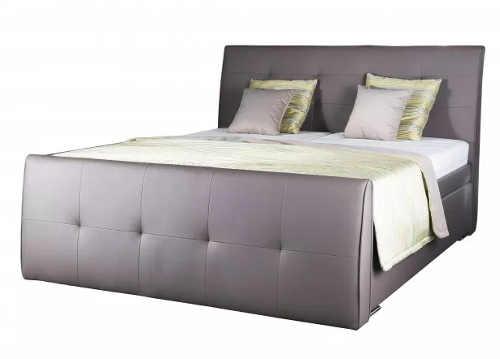 Luxusní boxspring postel 180x200 čalouněná eko kůží Loft