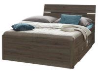 Moderní postel 140x200 cm s dekoračním LED osvětlením