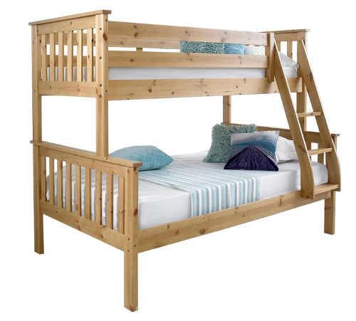 Multifunkční patrová postel pro tři děti