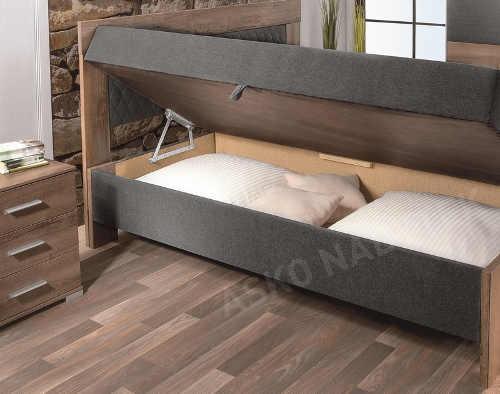 Luxusní manželská postel s dvěma samostatnými úložnými prostory