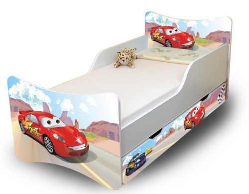 Chlapecká postel Cars s úložným prostorem