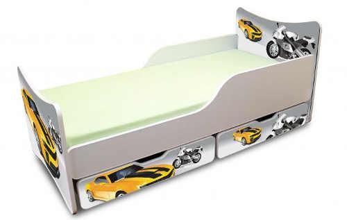 Dětská postel auta s úložným prostorem