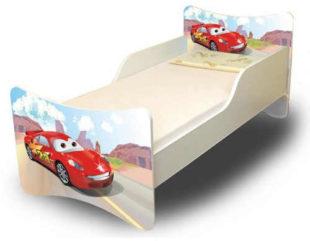 Dětská postel Cars s barevným potiskem