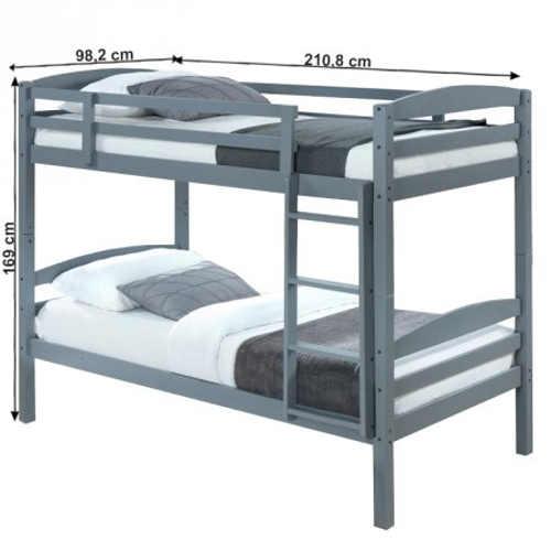Dřevěná patrová postel do dětského pokoje