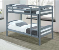 Šedá patrová postel FORKOLA 90x200 cm