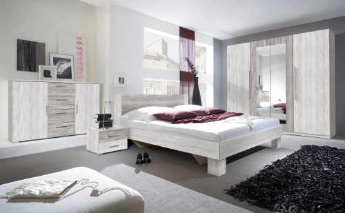 Moderní ložnice světlá borovice