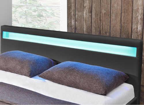 Moderní postel s LED osvětlením výprodej