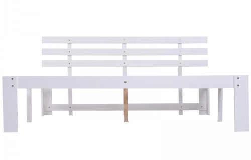 Zlevněná bílá borovicová postel