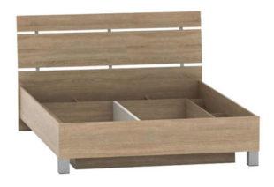 Dřevěná manželská postel 180 x 200 cm s úložným prostorem