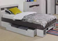 Moderní postel 90 x 200cm s velkou zásuvkou