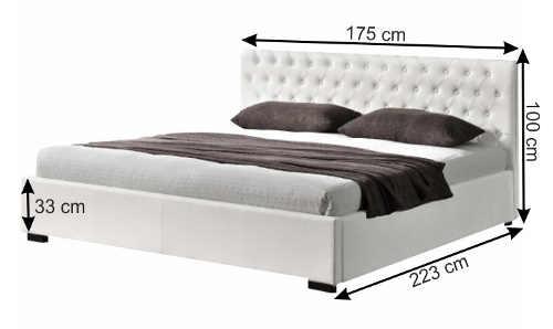 Romantická koženková manželská postel