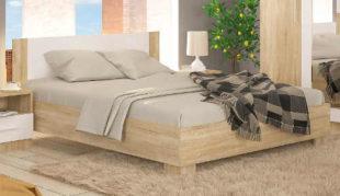 Zlevněná manželská postel v decentním barevném provedení