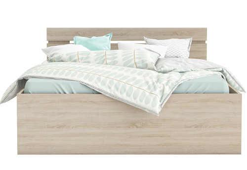 Levná manželská postel dub sonoma