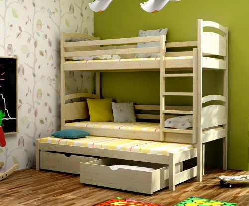 Patrová postel s přistýlkou do dětského pokoje
