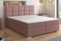 Luxusní čalouněná postel bez úložného prostoru