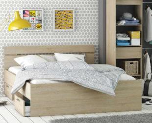 Multifunkční postel 160x200 cm dub Sonoma