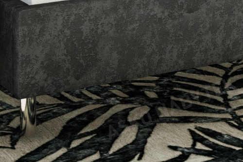 Luxusní šedá čalouněná postel