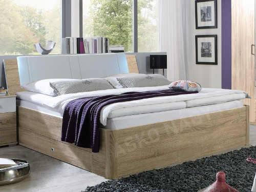 Vyšší dvoulůžková postel dub sonoma