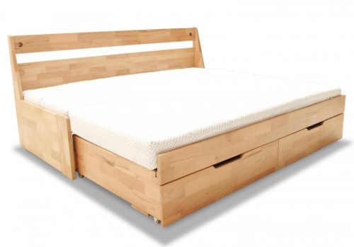 Dřevěná rozkládací postel do malého bytu