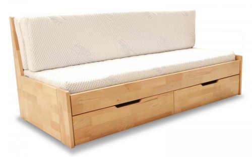 Dřevěná rozkládací postel Duette do menších prostor