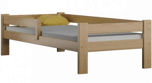 Levná dřevěná dětská postel 80 x 180 cm