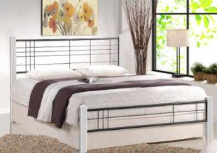 Moderní kovová manželská postel Viera