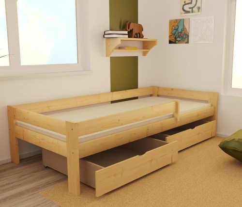 Možnost dokoupení úložných šuplíků pod dětskou postel