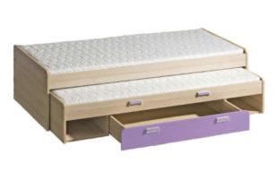 Rozkládací postel s úložnými prostory do dětského pokoje