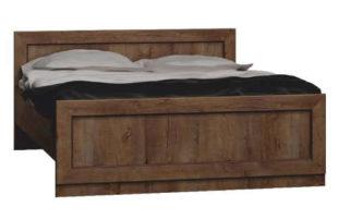 Rustikální dubová manželská postel vesnického stylu