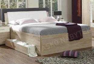 Vyšší manželská postel Sunday 180x200 cm
