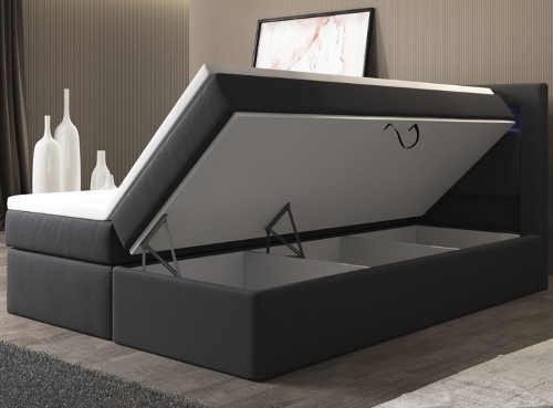 Dvoulůžková americká postel s úložnými prostory