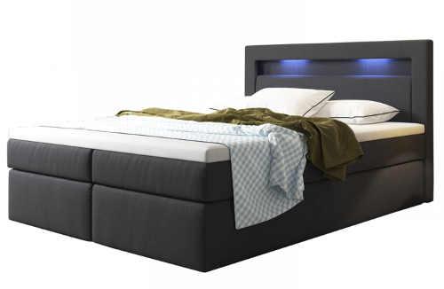 Luxusní kontinentální postel s LED osvětlením v čele