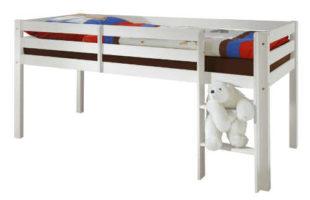 Dětská zvýšená postel z bílé borovice