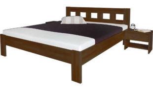 Dvoulůžková postel Silvana s osobitou strukturou dřeva