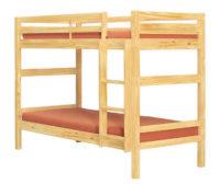 Levná dřevěná palanda s možností rozložit na dvě samostatná lůžka