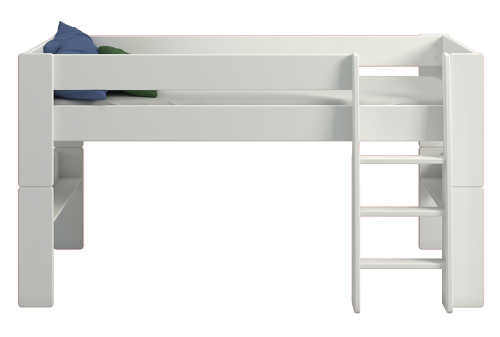 Univerzální bílá vyvýšená dětská postel