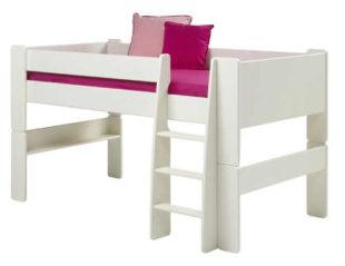 Zvýšená dětská postel se schůdky