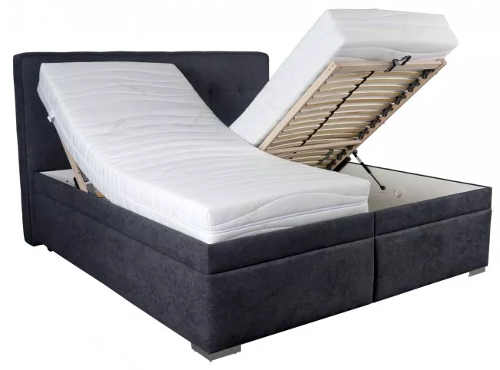 Manželská postel s polohovacími matracemi