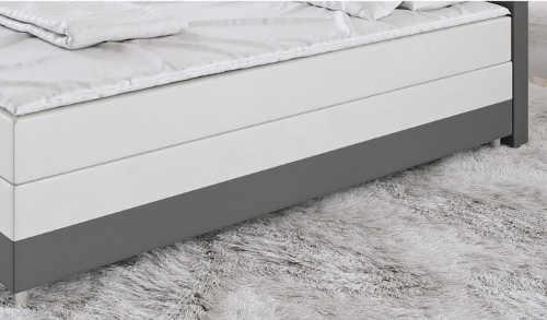 Vysoká bílo-šedá manželská čalouněná kůži