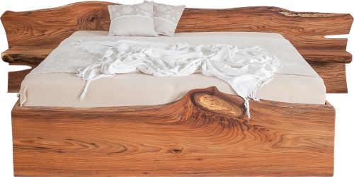 Designová manželská masivní postel ELBA