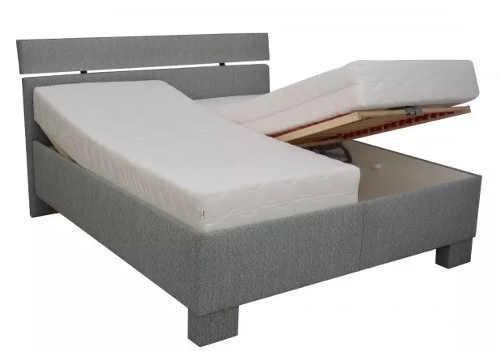 Dokonalé pohodlí v manželské posteli díky dvěma polohovacím roštům