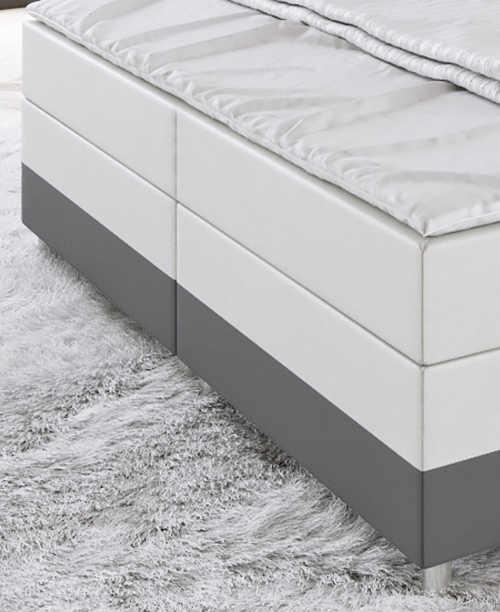 Kožená kontinentální postel do ložnice