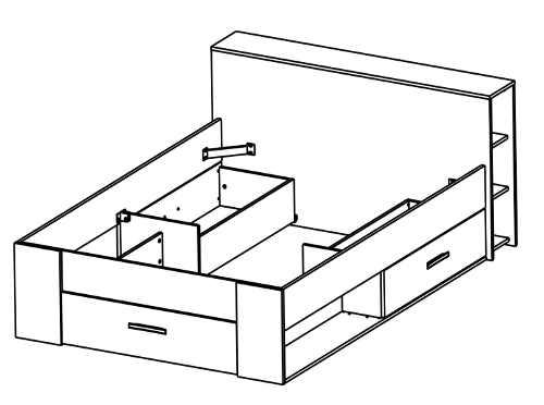 Rozložení zásuvek pod postelí
