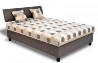 Čalouněná postel George 140x200 cm s matrací a úložným prostorem