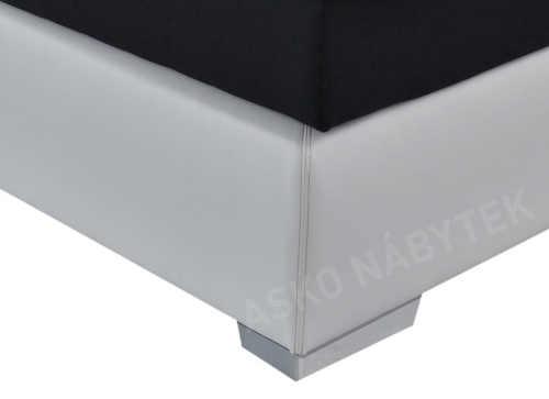 Černobílá kožená manželská postel