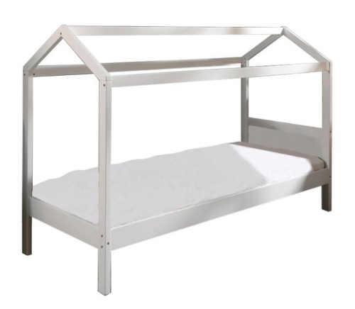 Dětská domečková postel z borovicového dřeva