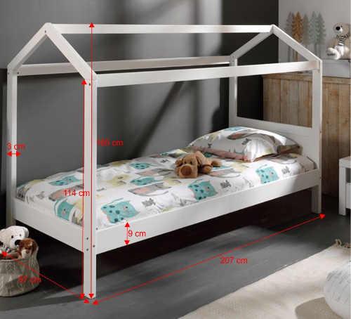 Dětská postel domeček 90 x 200 cm
